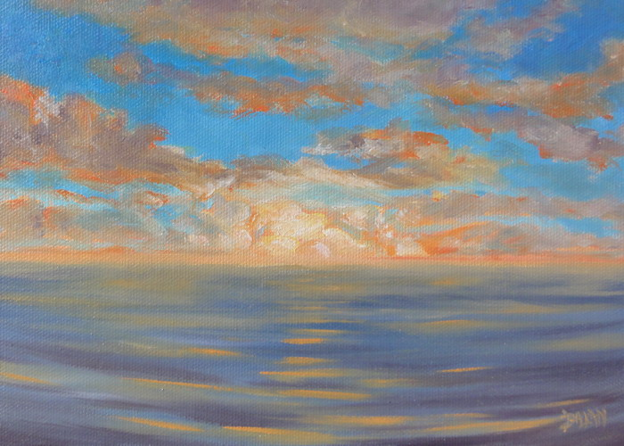 """Sunrise Plein Air Kailua Hawaii"" original fine art by Dalan Wells"