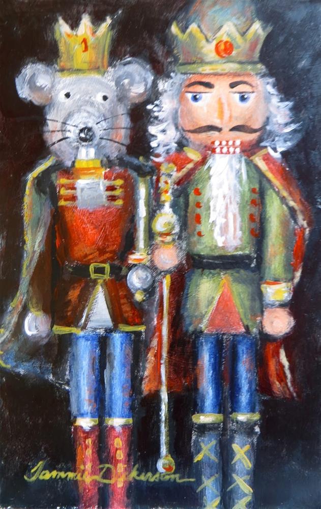 """""""Nutcrackers Royal"""" original fine art by Tammie Dickerson"""