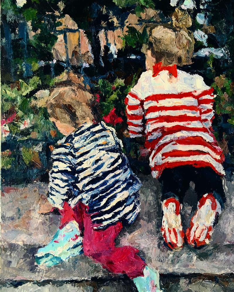"""Sisters"" original fine art by Nava Judith"