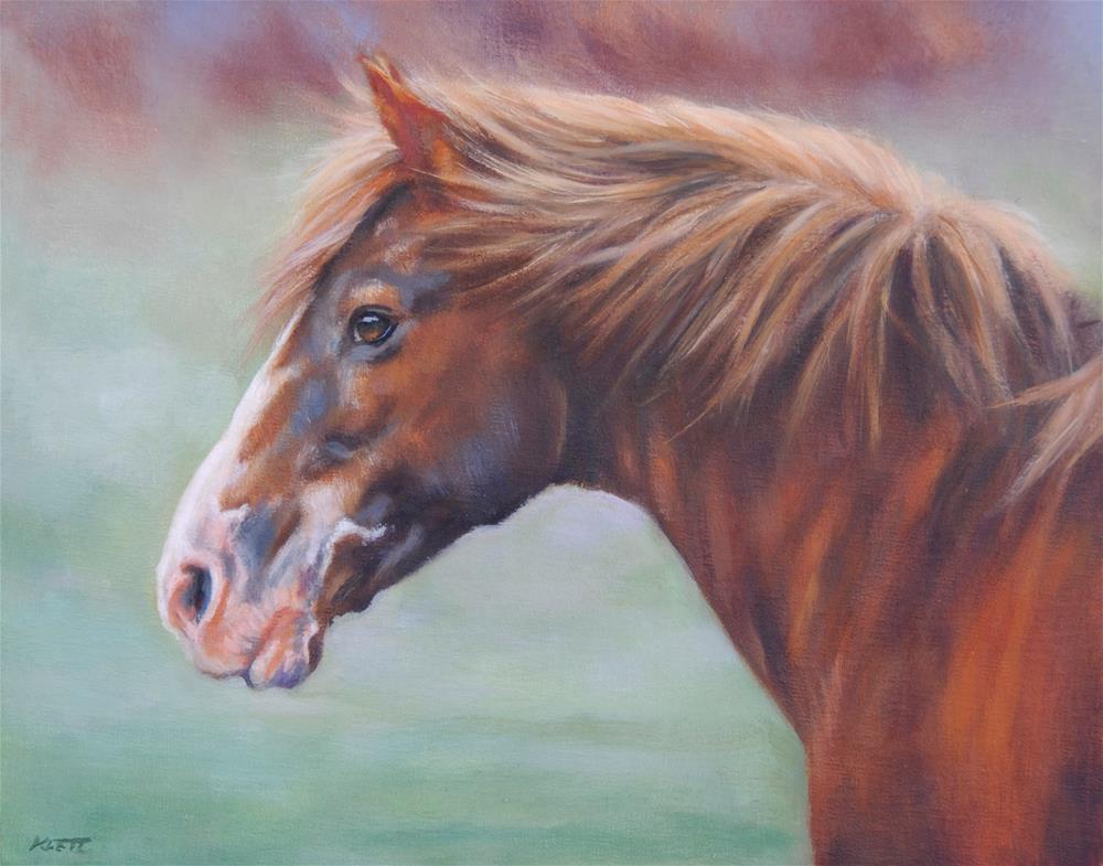 """""""Wild Roan"""" original fine art by Tracy Klett"""