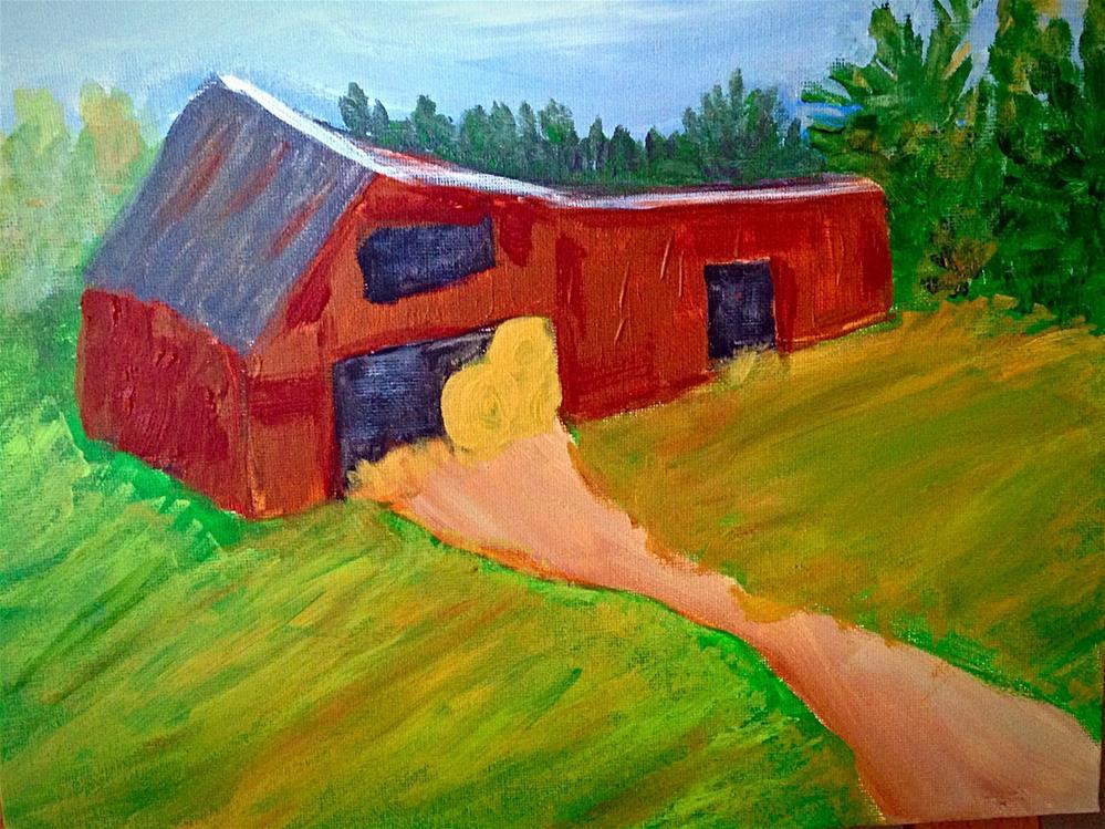 """Old Hay Barn"" original fine art by Brenda Smith"