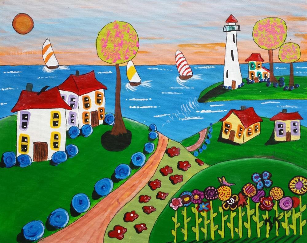"""The Path to the Beach"" original fine art by Karleen Kareem"