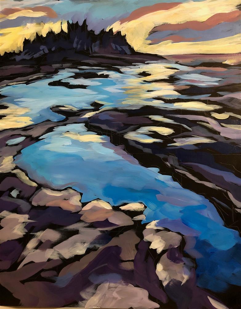 """Sunrise on Northern Shores"" original fine art by Kat Corrigan"