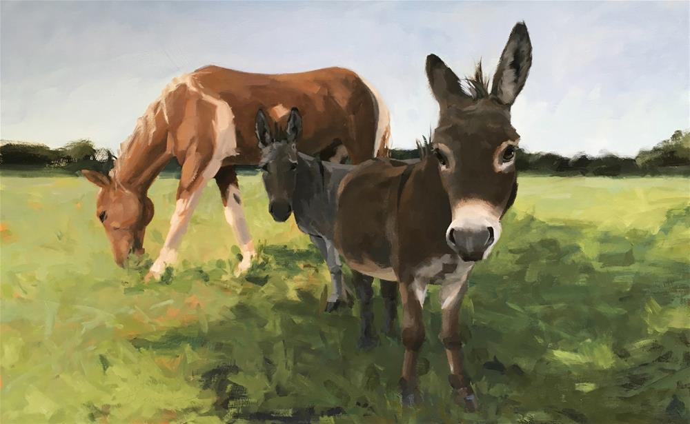"""Thumper & Company"" original fine art by Marilyn Flanegan"