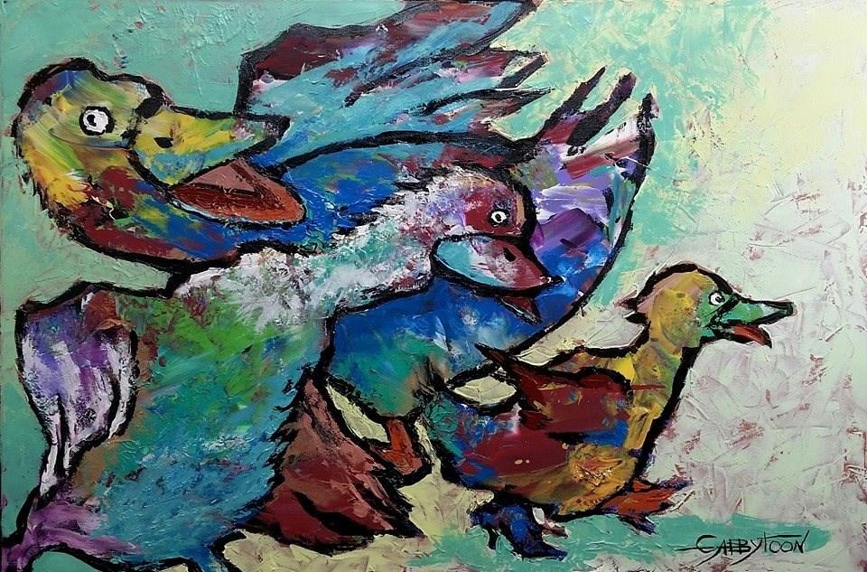 """In The Back Yard"" original fine art by Gabriella DeLamater"