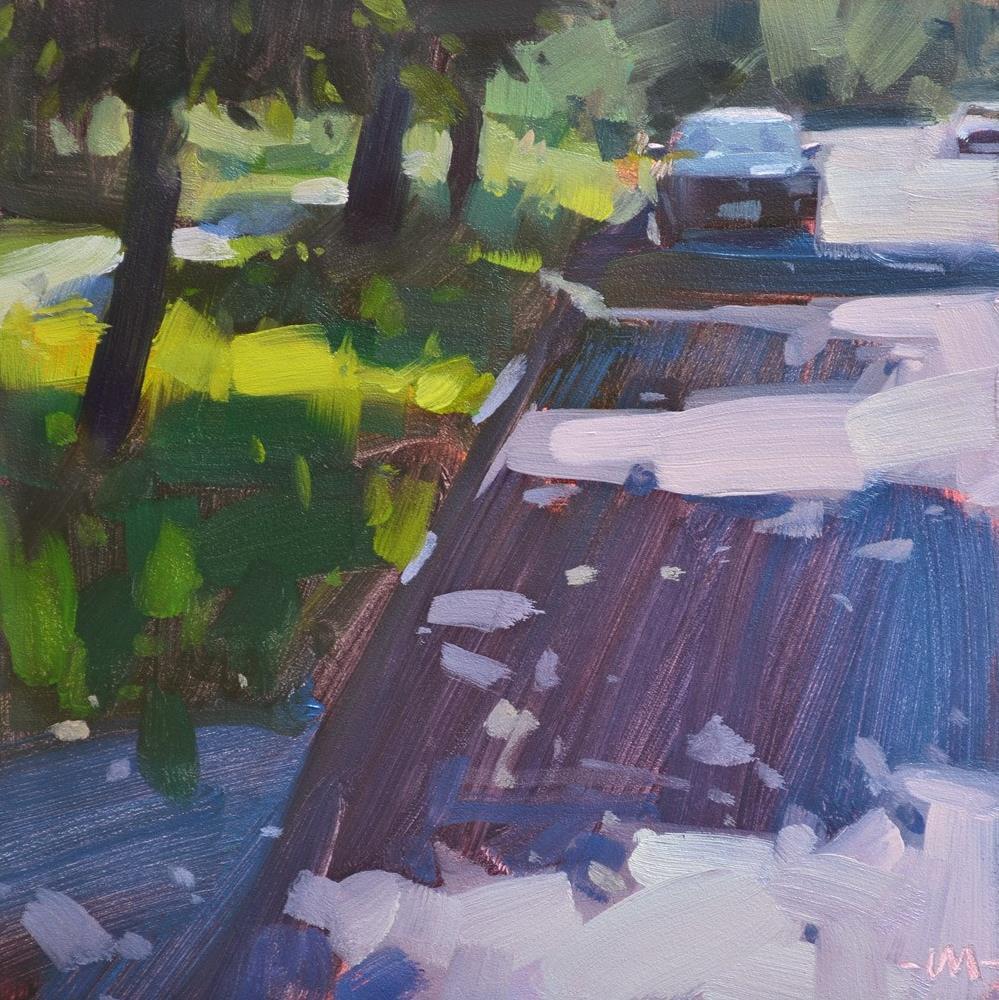 """""""Shady Avenue"""" original fine art by Carol Marine"""