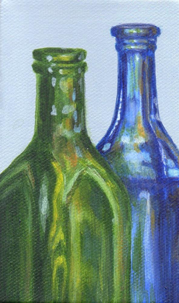 """""""By the Bottle"""" original fine art by Debbie Shirley"""