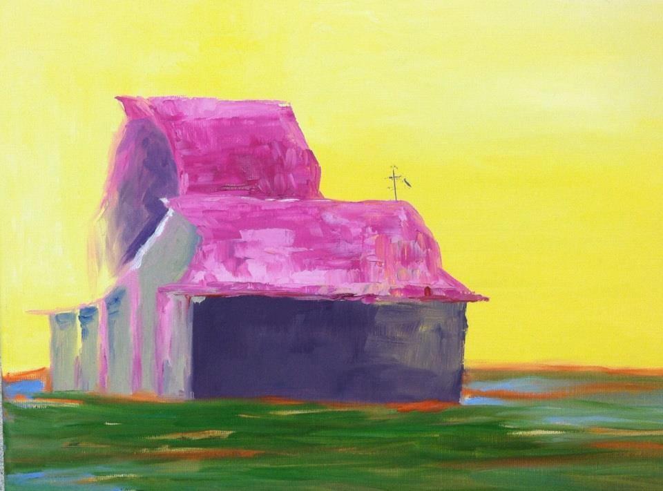 """""""Morning Barn Virginia"""" original fine art by Angela Hansen"""