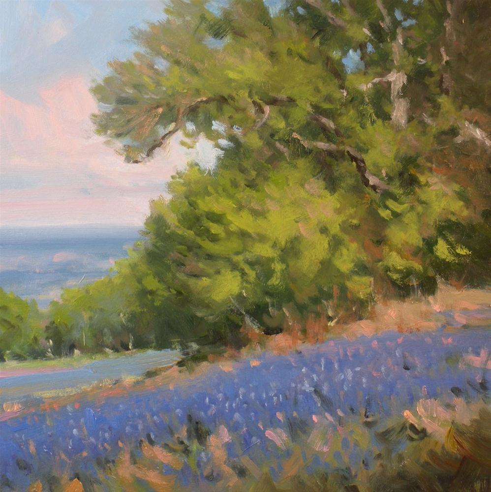 """Blue Hillside"" original fine art by David Forks"