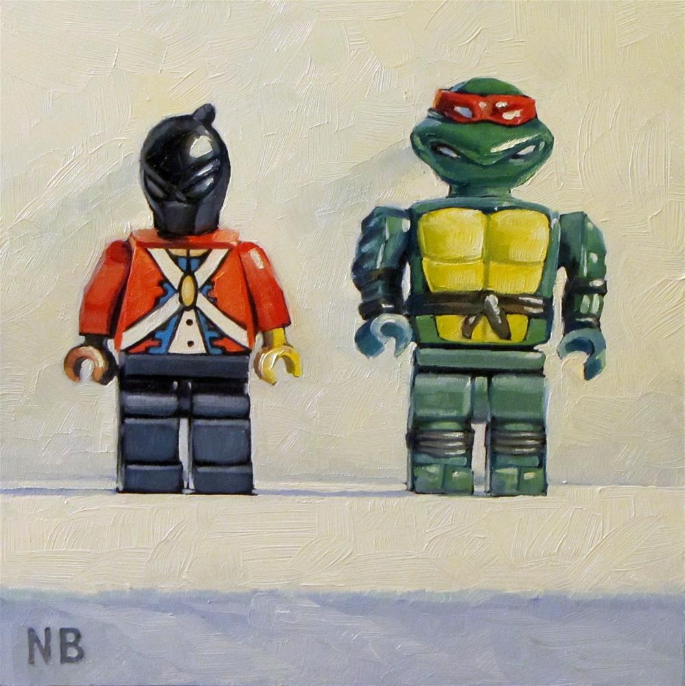 """""""Going Ninja"""" original fine art by Nora Bergman"""