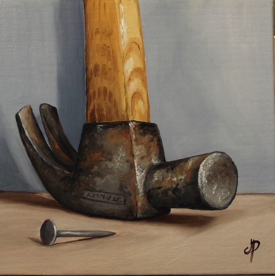 """""""A Hammer & half an apple"""" original fine art by Jane Palmer"""