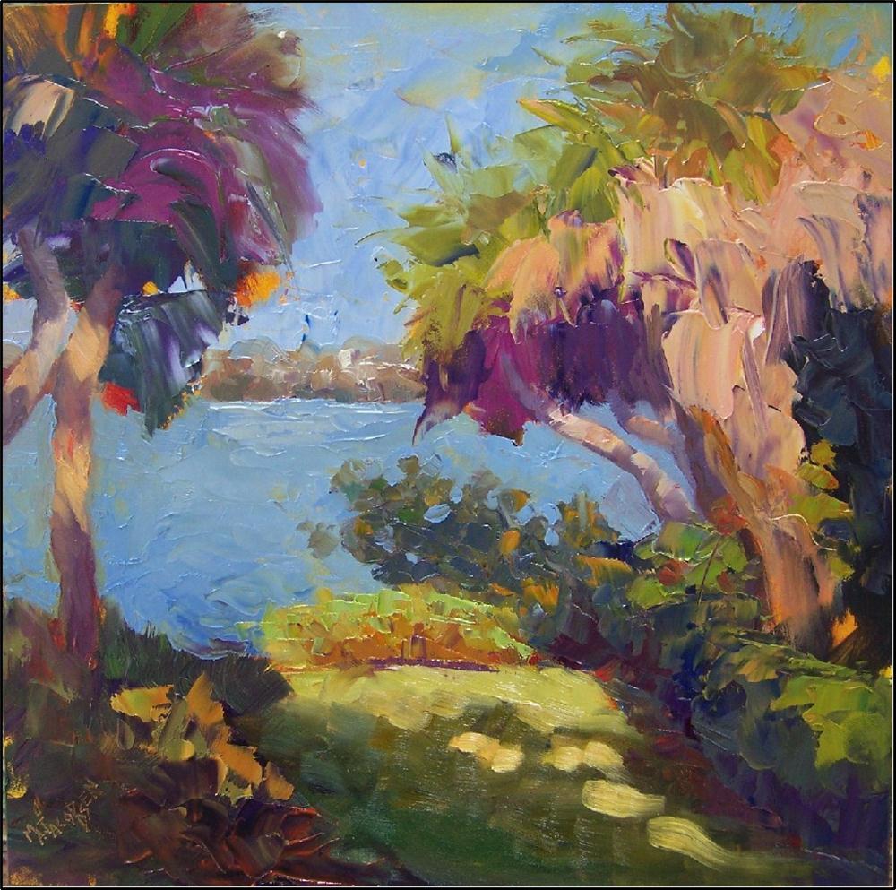 """Bay Preserve Palms, 12x12, field study by Maryanne jacobsen, plein air, alla prima, field study, p"" original fine art by Maryanne Jacobsen"