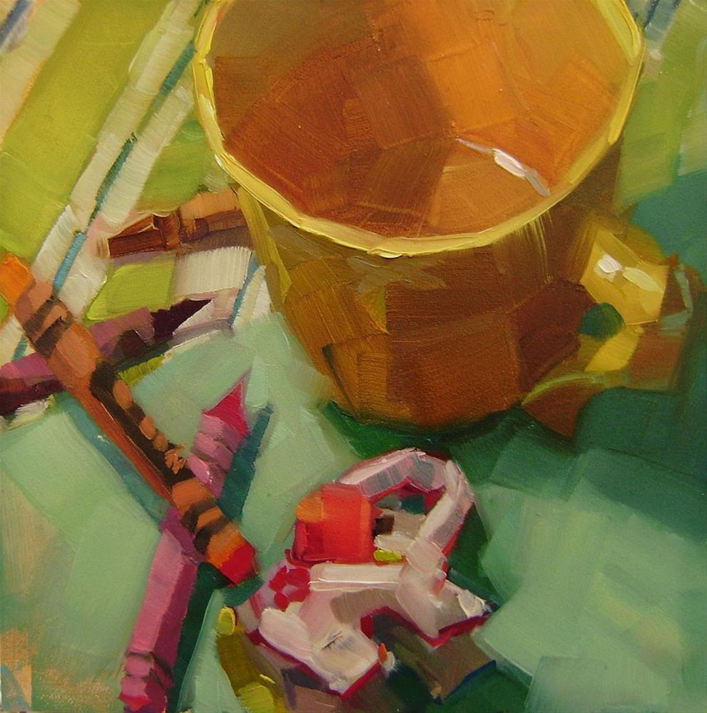 """Cup and Crayons"" original fine art by Holly Storlie"