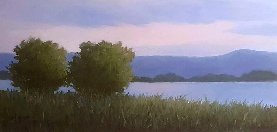 """""""Evening Calm"""" original fine art by Karen Johnston"""