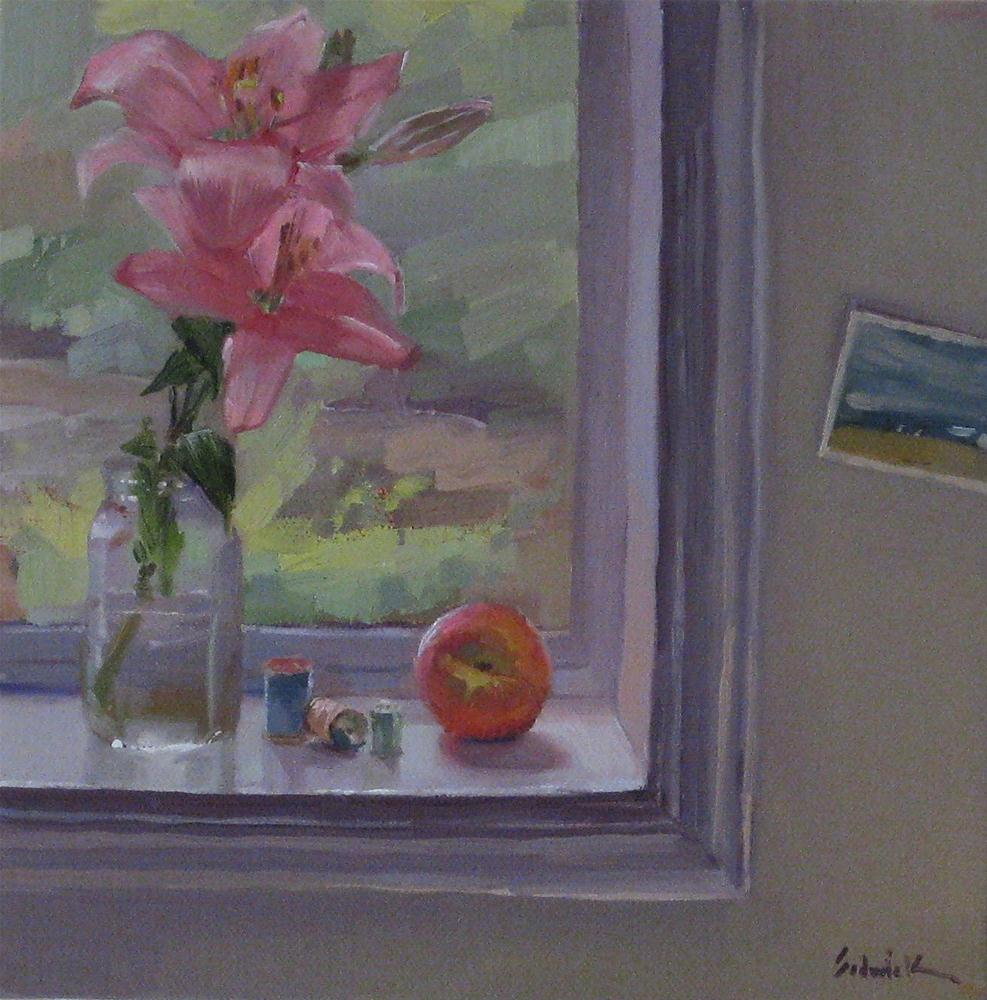 """Daily Painting time machine, flashback edition"" original fine art by Sarah Sedwick"