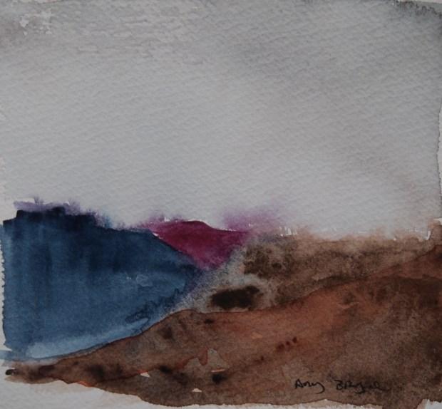 """Flat Land"" original fine art by Amy Bryce"