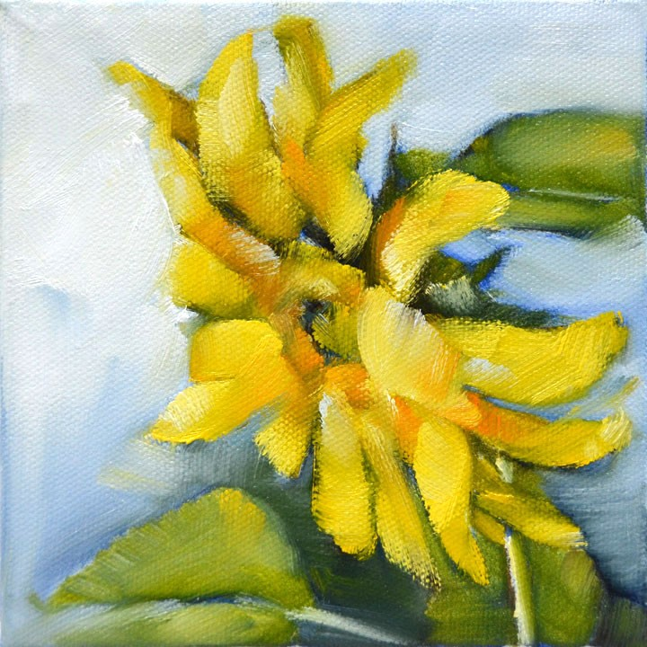 """Sunflower Challenge"" original fine art by Cheryl Wilson"