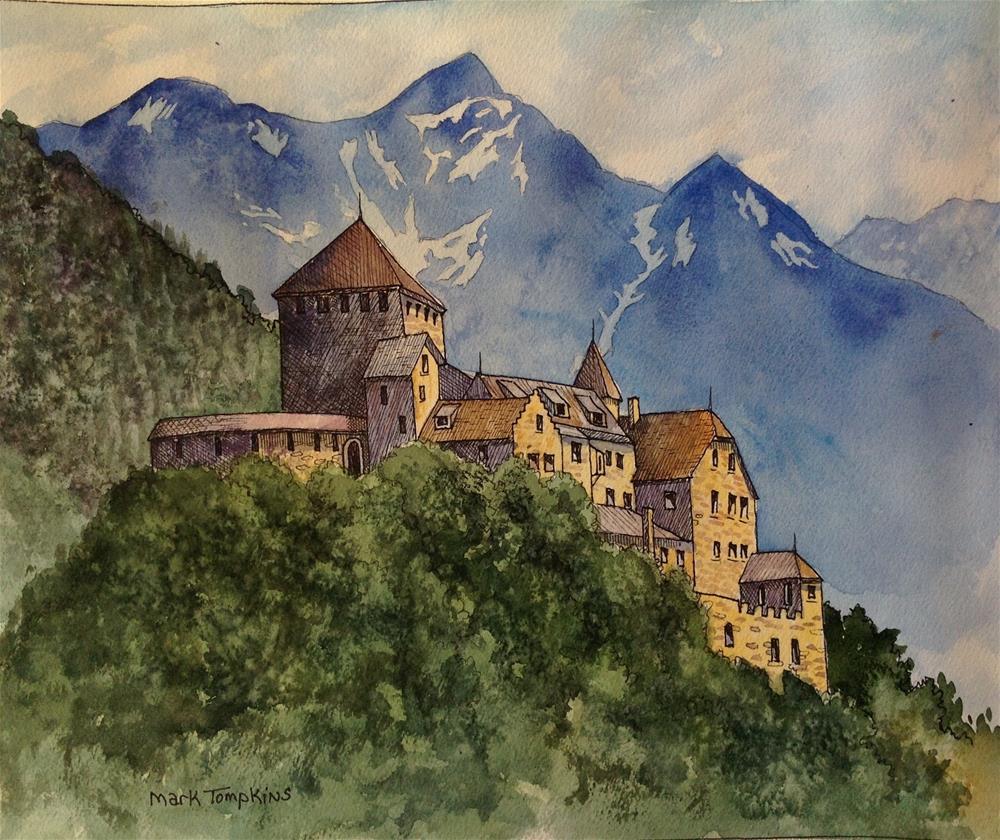 """German Castle 2"" original fine art by Mark Tompkins"