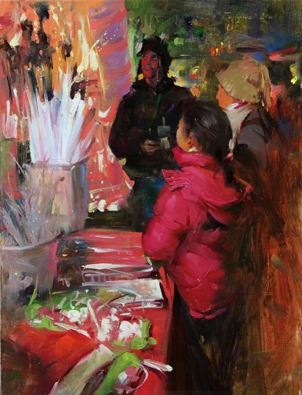 """""""Austin Workshop Announcement"""" original fine art by Fongwei Liu"""