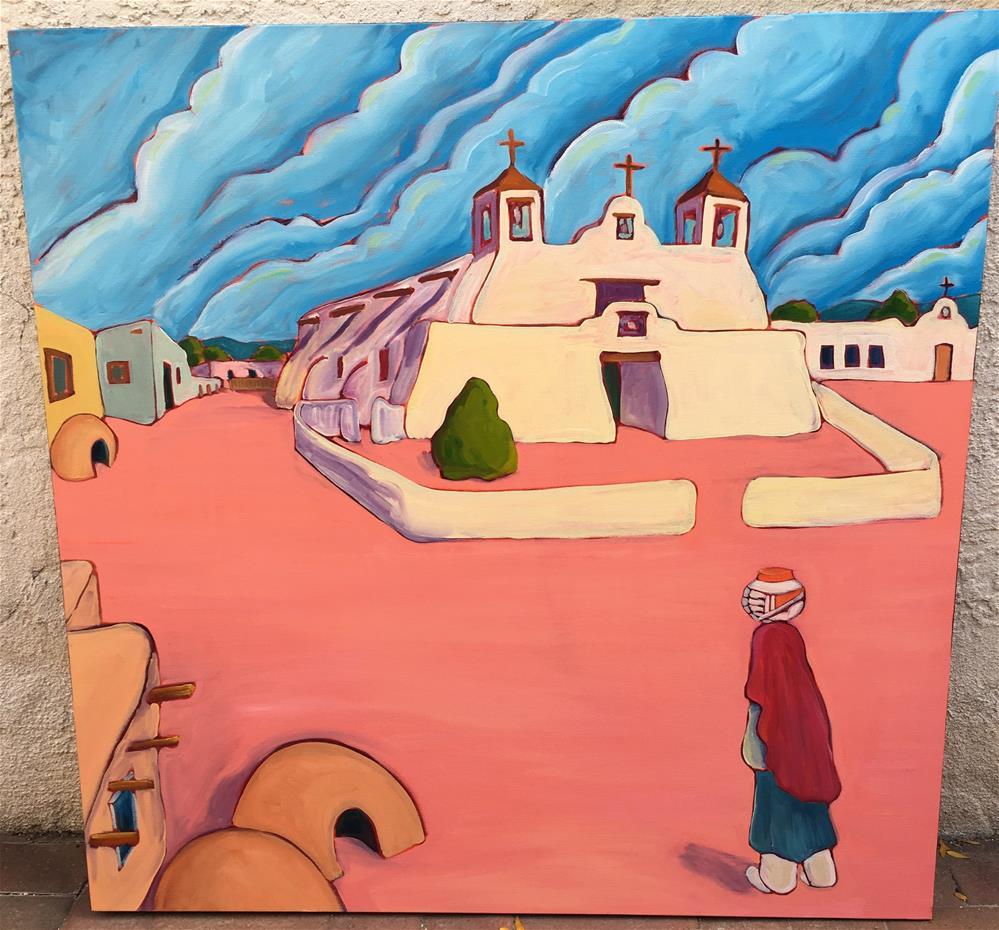 """serene at Isleta church"" original fine art by Robyn Suzanne"