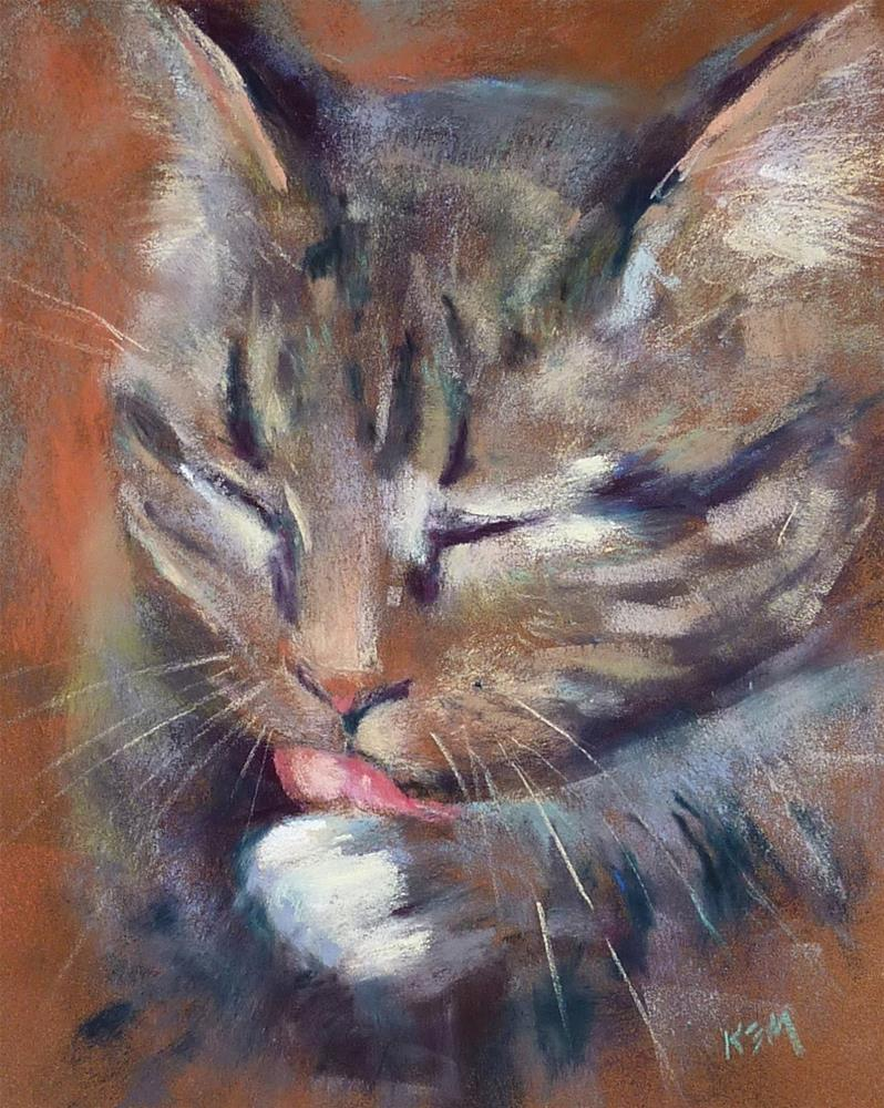 """""""How to Paint Whiskers with Pastels"""" original fine art by Karen Margulis"""