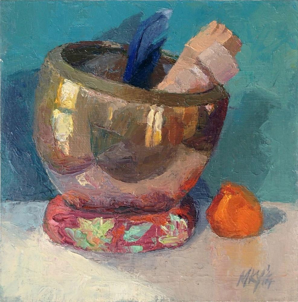 """Kerrie's Singing Bowl"" original fine art by Myriam Kin-Yee"
