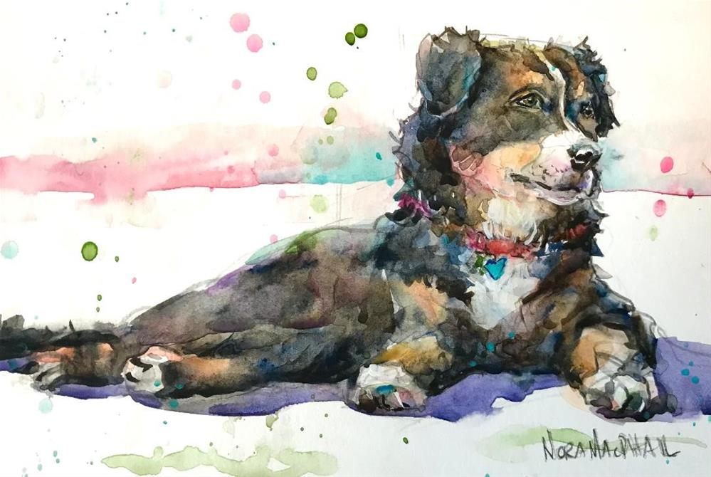 """""""pause... and paws"""" original fine art by Nora MacPhail"""