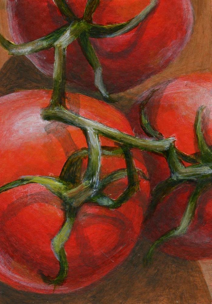 """Tomato Tangle"" original fine art by Debbie Shirley"