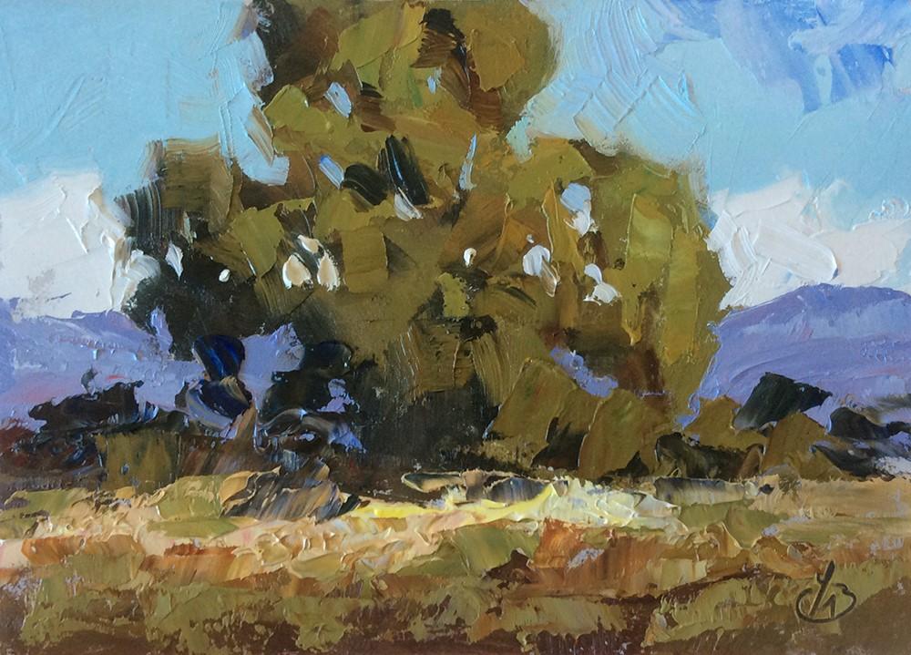"""POWERFUL CALIFORNIA IMPRESSIONIST LANDSCAPE"" original fine art by Tom Brown"