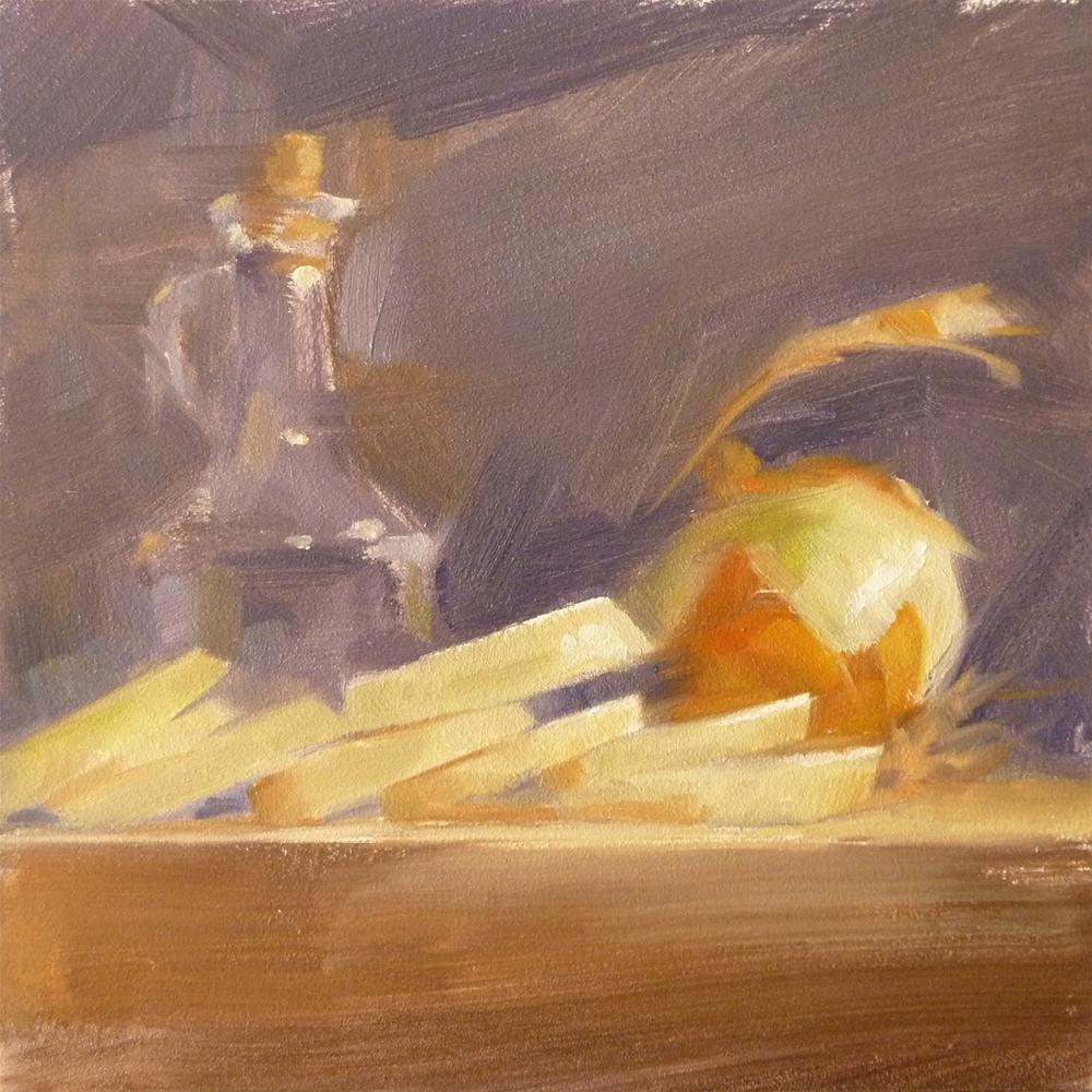 """Onion Slices"" original fine art by Ron Ferkol"