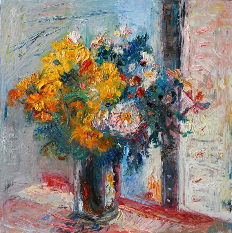 """Yellow Daisies"" original fine art by Anna Fine Art"