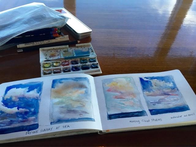 """""""Cloud Studies at Sea"""" original fine art by Karen Margulis"""