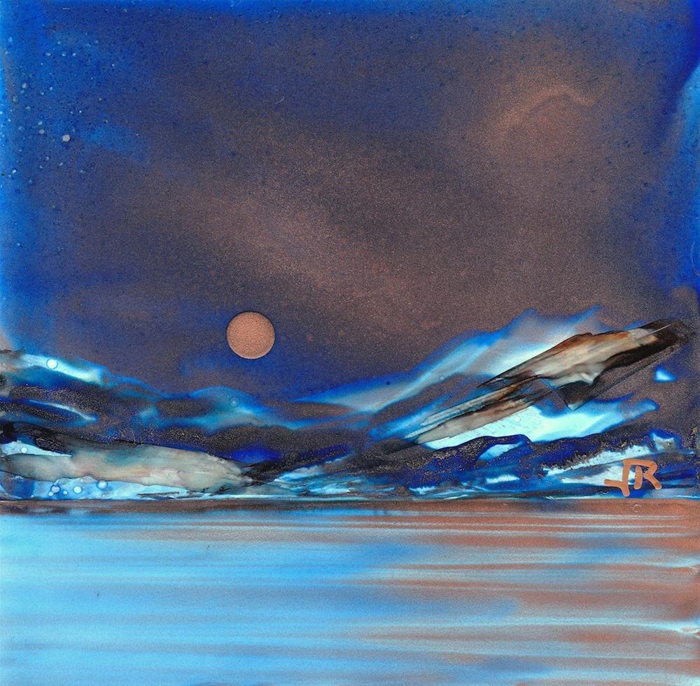 """Dreamscape No. 450"" original fine art by June Rollins"