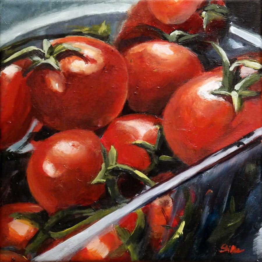 """""""1658 Vine Tomatos"""" original fine art by Dietmar Stiller"""