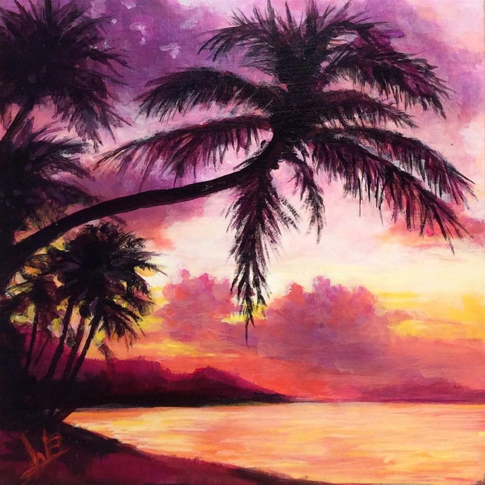 """""""Sunset"""" original fine art by wendy black"""