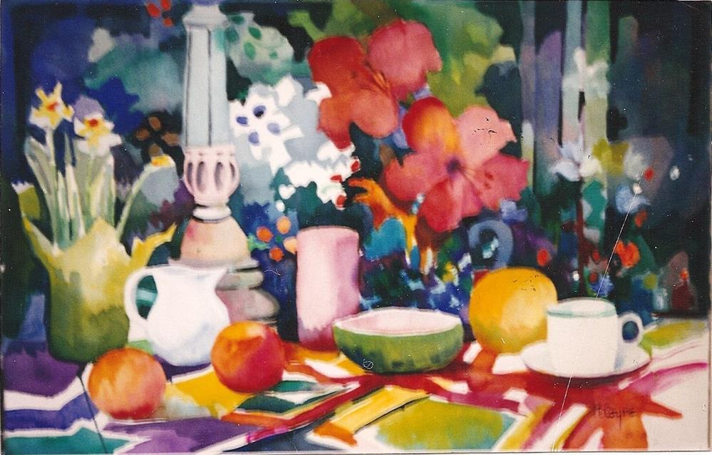 """Hybiscus"" original fine art by meribeth coyne"