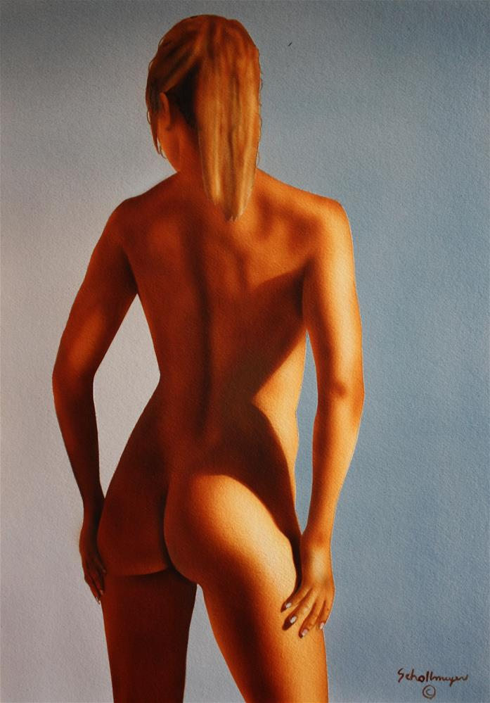 """Nude Study of Blonde Model"" original fine art by Fred Schollmeyer"