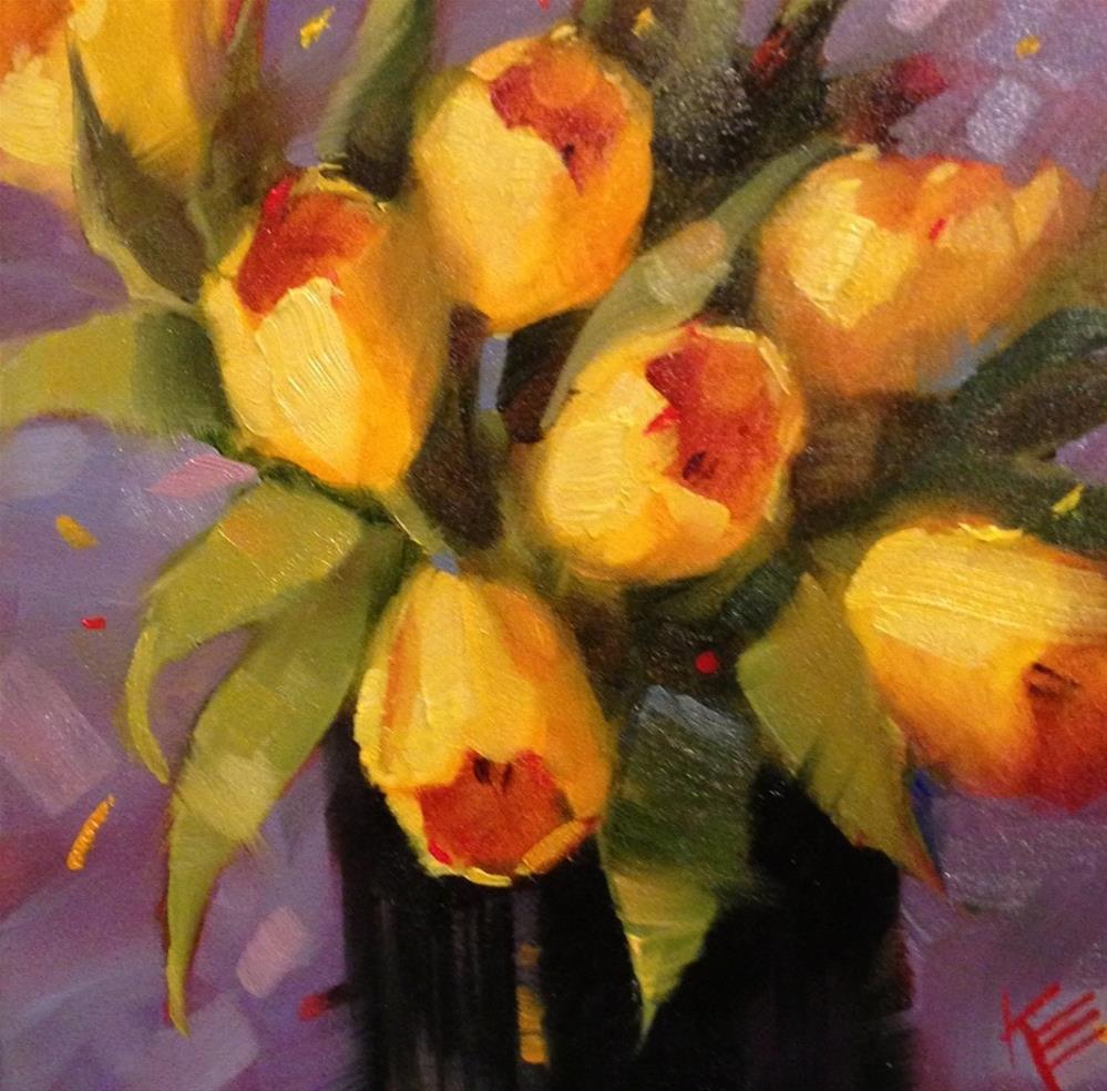 """Lemon on Purple"" original fine art by Krista Eaton"