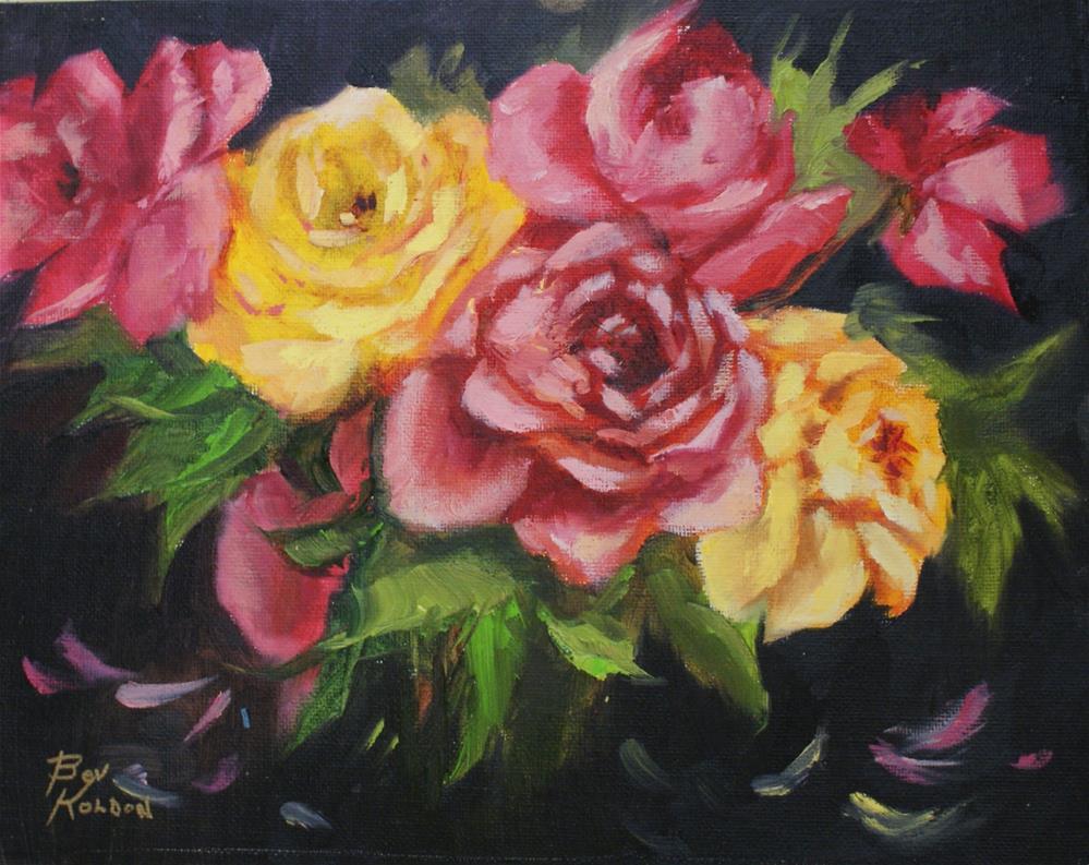 """Random Roses"" original fine art by Beverly Koldon"