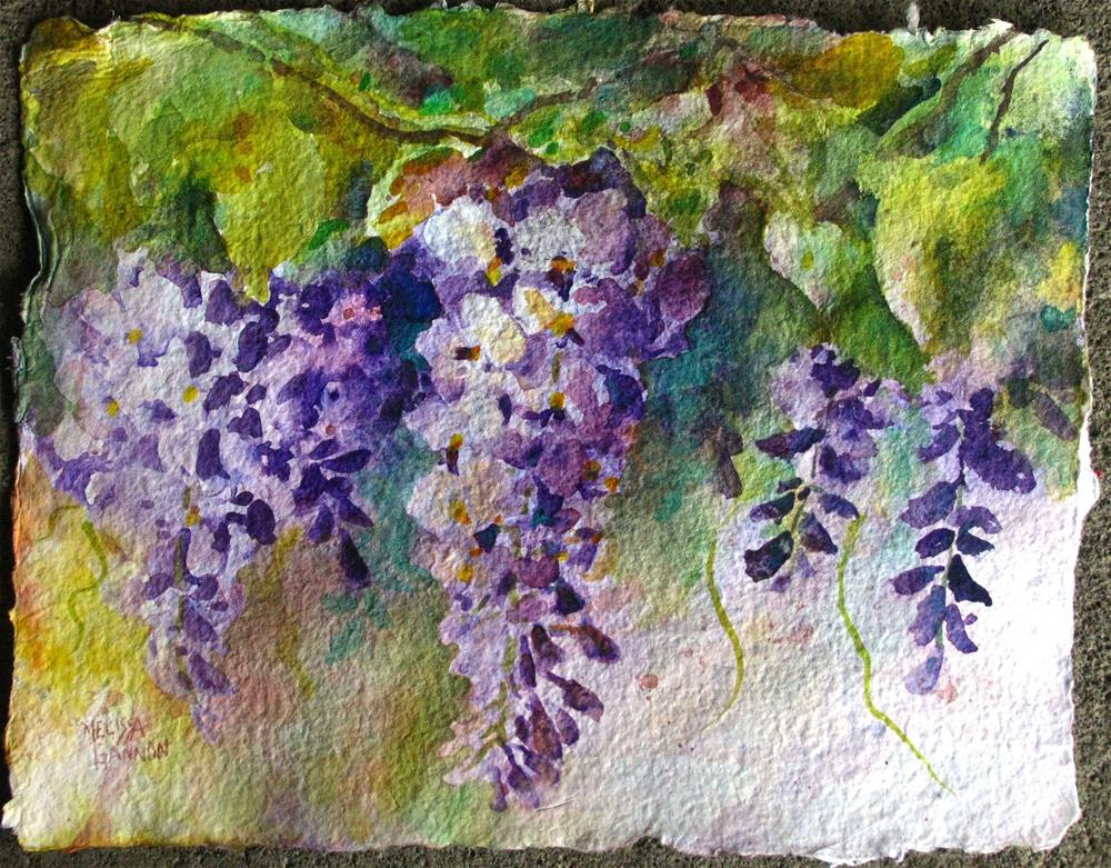 """A Time for Wisteria"" original fine art by Melissa Gannon"