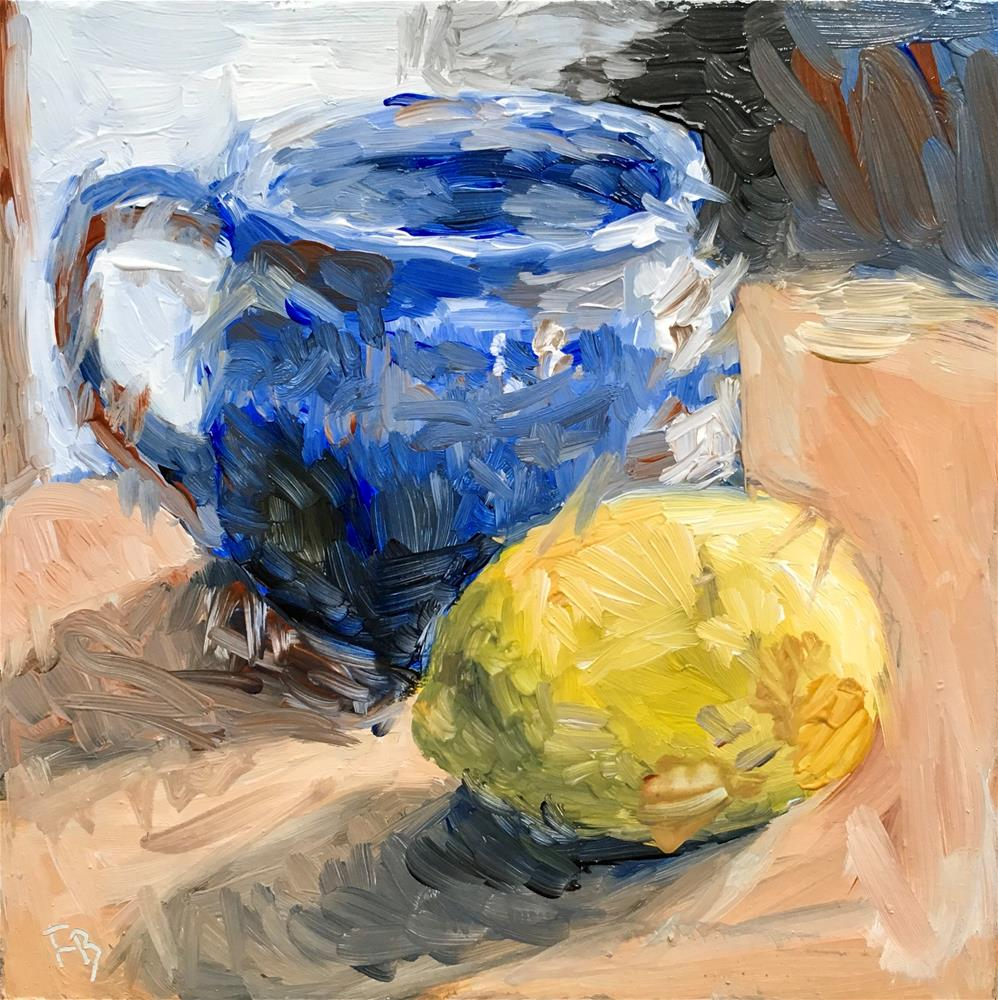 """""""105 Cup With Lemon"""" original fine art by Fred Bell"""