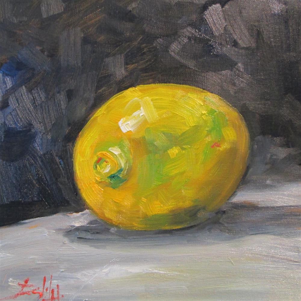 """Lemon No. 3"" original fine art by Delilah Smith"