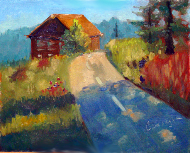 """GermanLandscapeTwo"" original fine art by Roseanne Campagna"
