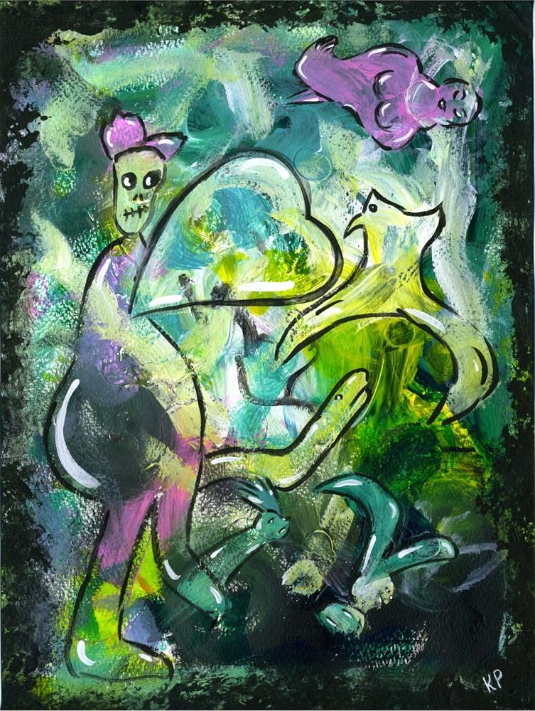 """""""Ideas Flow"""" original fine art by Kali Parsons"""