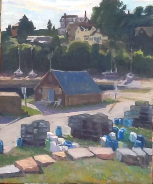 """""""Granite Pier"""" original fine art by Elizabeth Bish"""