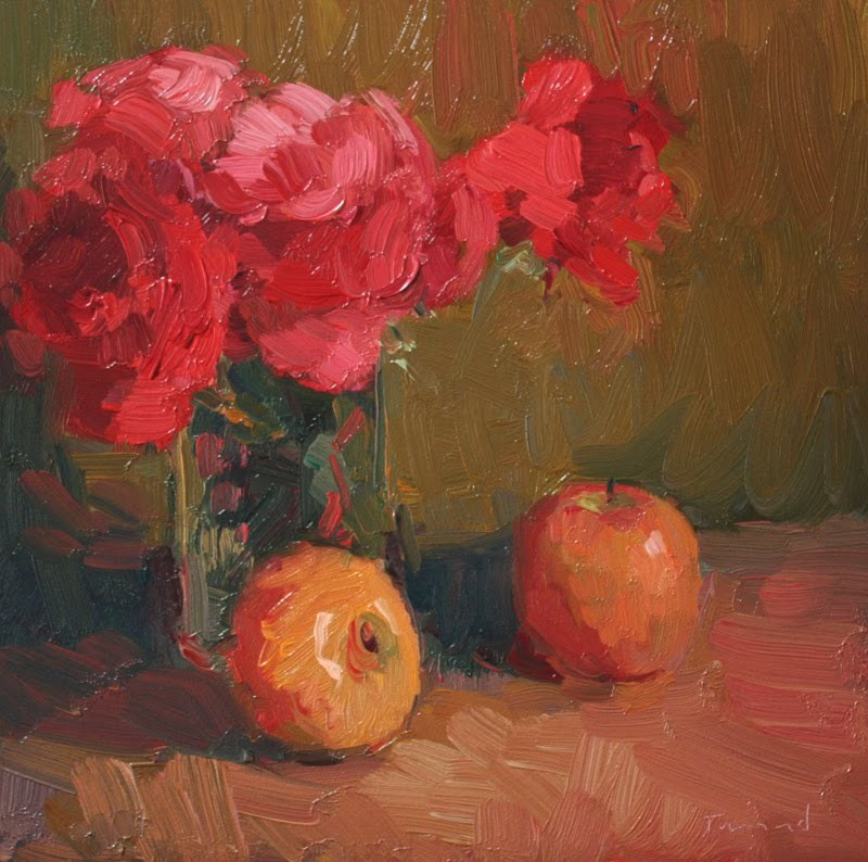 """""""Still Life with Apples"""" original fine art by Kathryn Townsend"""