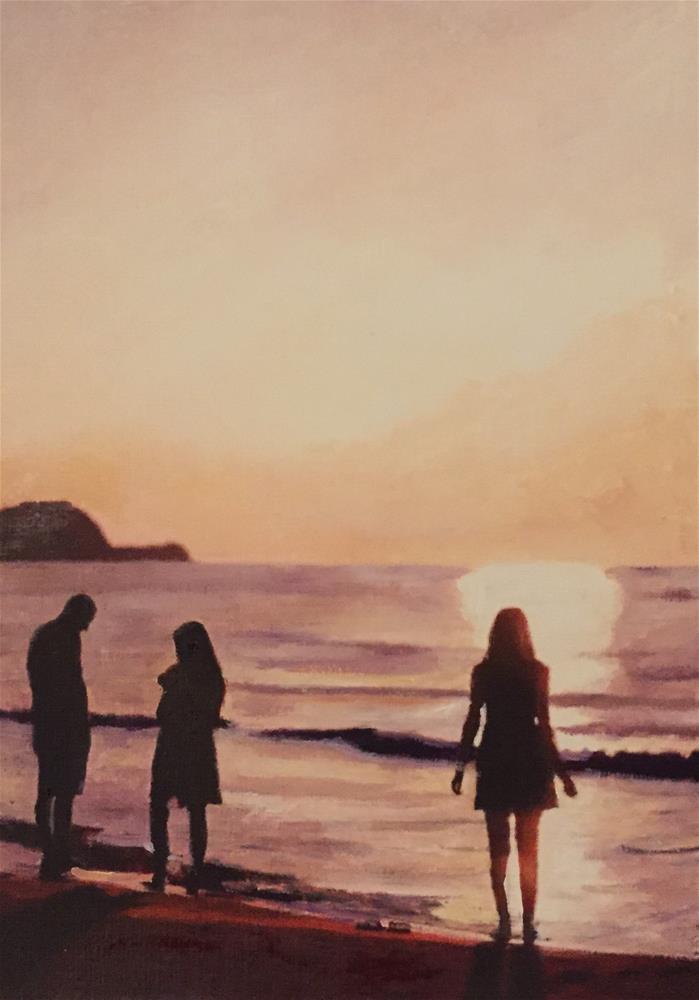 """At Sunset"" original fine art by John Cameron"