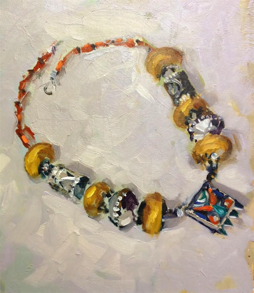 """Day 28. Favourite Necklace"" original fine art by Mo Teeuw"