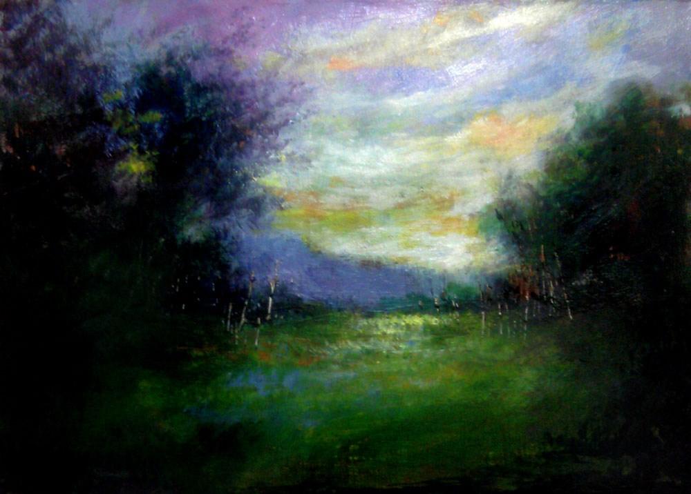 """Between the Woods"" original fine art by Bob Kimball"