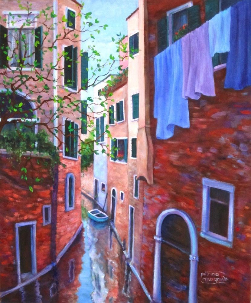 """Canal Scene"" original fine art by Patricia Musgrave"